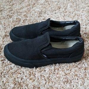 Van's Kids Size: 1.0 Black Slip Ons